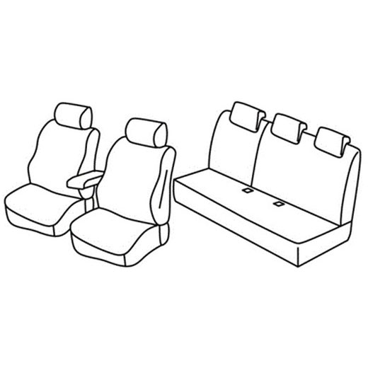 Sedežna prevleka za Dacia Duster Prestige