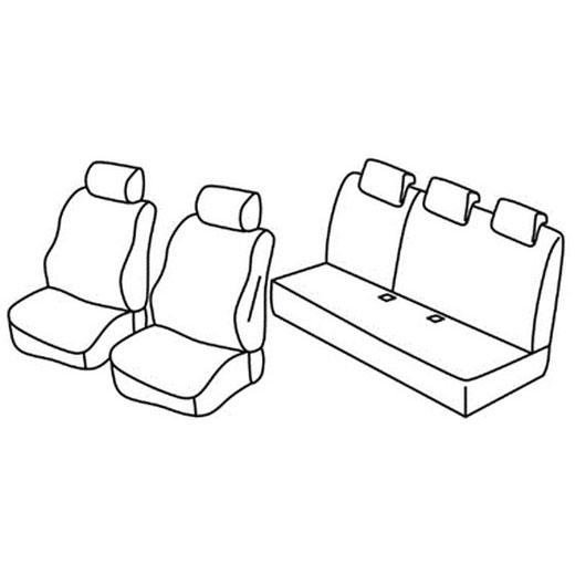 Sedežna prevleka za Dacia Duster Comfort Essential