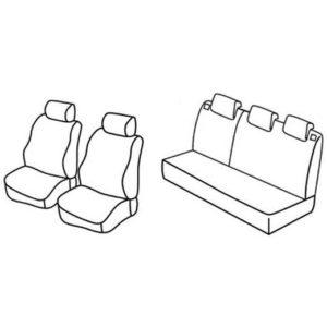 Sedežna prevleka za Dacia Logan Ambiance