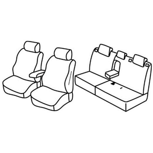 Sedežna prevleka za Citroen C-Crosser