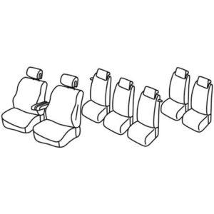 Sedežna prevleka za Citroen C4 Grand Picasso