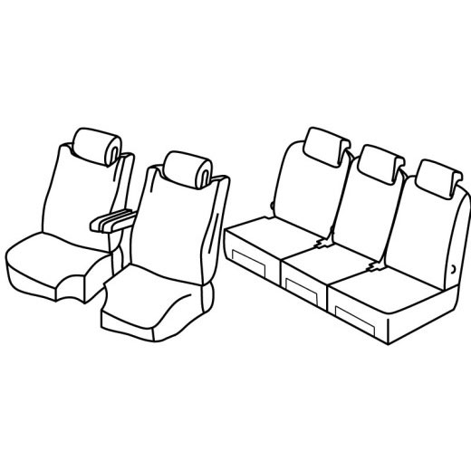 Sedežna prevleka za Citroen C4 Picasso