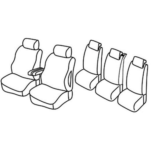 Sedežna prevleka za Citroen C8