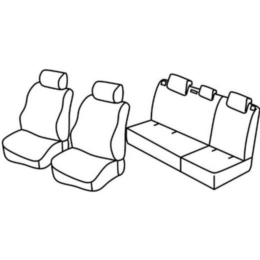 Sedežna prevleka za Chevrolet Matiz Spark
