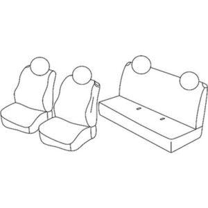 Sedežna prevleka za Fiat 500
