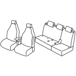 Sedežna prevleka za Fiat 500L