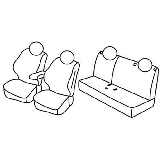 Sedežna prevleka za Fiat 500X