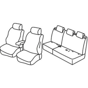 Sedežna prevleka za Fiat Doblo 2 Combinato