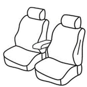 Sedežna prevleka za Fiat Doblo 2 Delivery