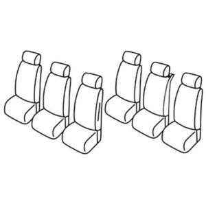 Sedežna prevleka za Fiat Multipla