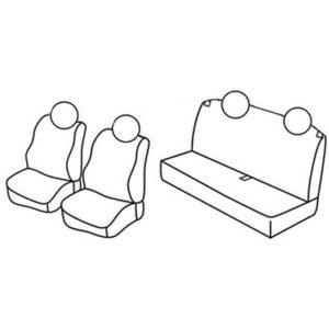 Sedežna prevleka za Fiat Panda