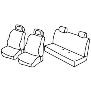 Sedežna prevleka za Fiat Panda Dinamic