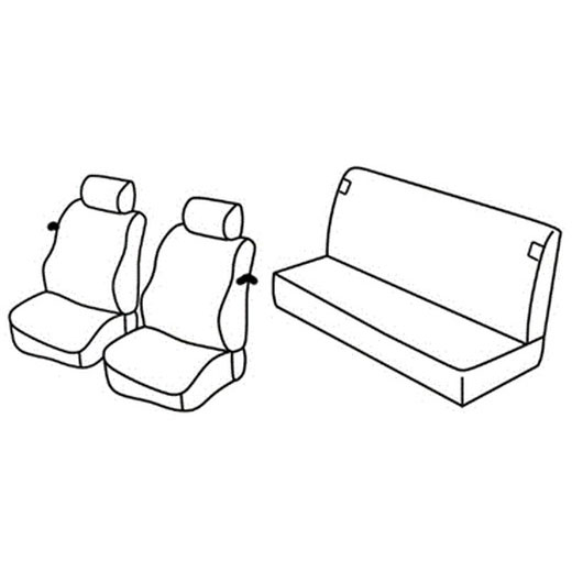 Sedežna prevleka za Fiat Punto