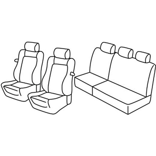 Sedežna prevleka za Fiat Punto 2