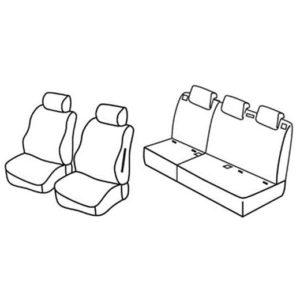 Sedežna prevleka za Fiat Sedici