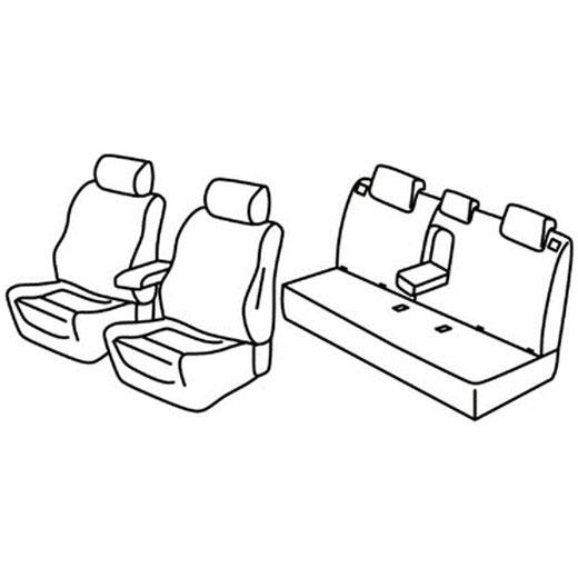 Sedežna prevleka za Fiat Tipo