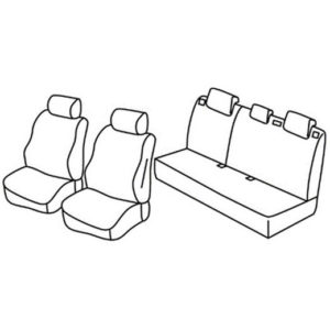 Sedežna prevleka za Ford Fiesta Trend