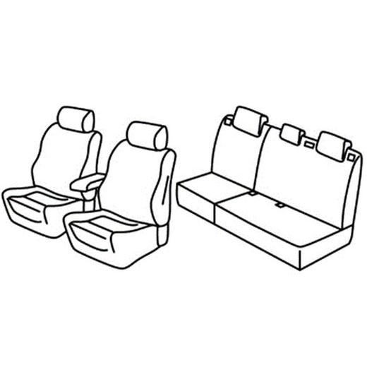 Sedežna prevleka za Ford Focus st line