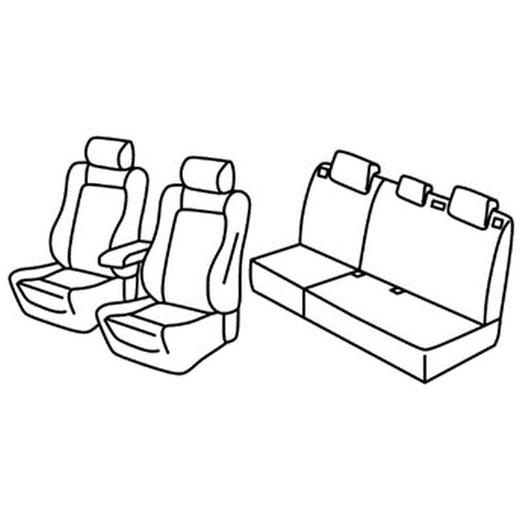Sedežna prevleka za Ford Focus Trend sport