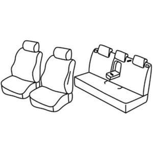 Sedežna prevleka za Honda Civic