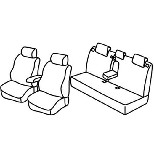 Sedežna prevleka za Hyundai Accent 3