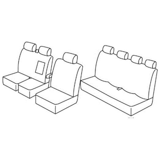 Sedežna prevleka za Iveco Double cap