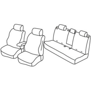 Sedežna prevleka za Jeep Compas