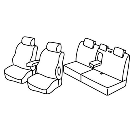 Sedežna prevleka za Lancia Delta