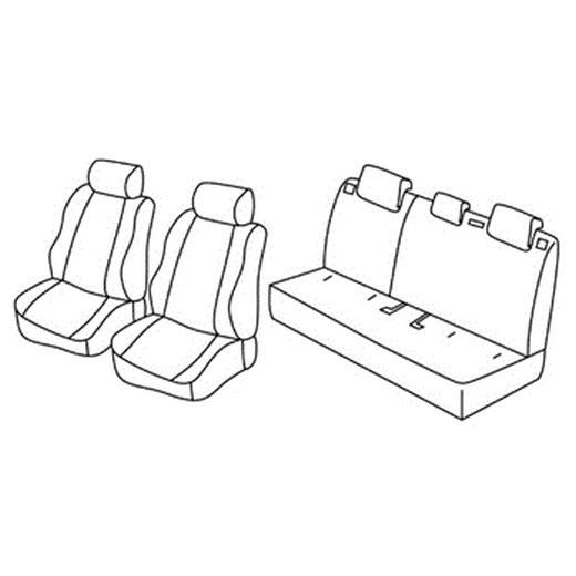 Sedežna prevleka za Mazda 2 Attraction