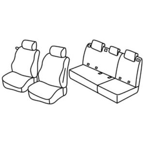 Sedežna prevleka za Mercedes Classe A w169
