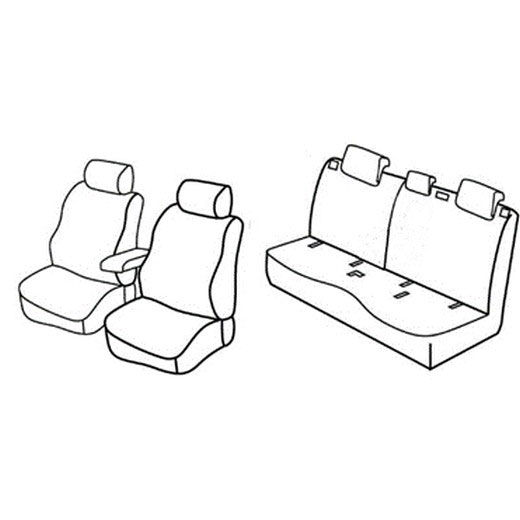 Sedežna prevleka za Mercedes Classe B