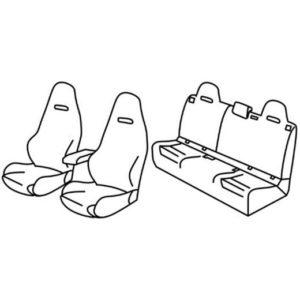 Sedežna prevleka za Mercedes Classe CLA AMG