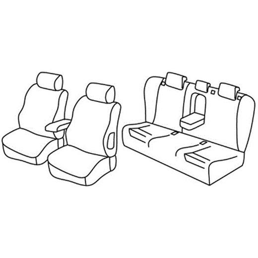 Sedežna prevleka za Mercedes Classe C