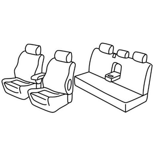 Sedežna prevleka za Mitsubishi L200
