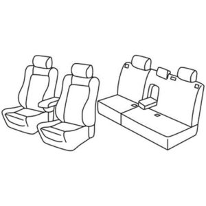 Sedežna prevleka za Mitsubishi Outlander