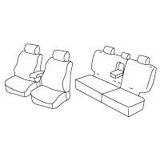 Sedežna prevleka za Mitsubishi Pajero