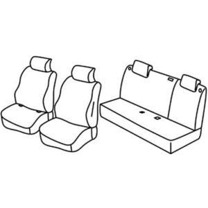 Sedežna prevleka za Nissan Micra