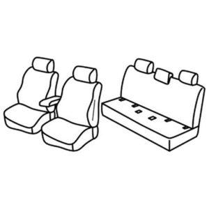 Sedežna prevleka za Nissan Navara
