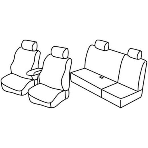 Sedežna prevleka za Nissan Navara 3 D40