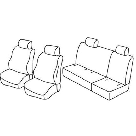 Sedežna prevleka za Nissan Navara 3 facelift