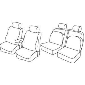 Sedežna prevleka za Nissan Navara 4