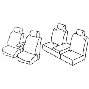 Sedežna prevleka za Nissan Qashqai 2