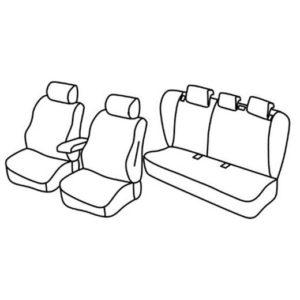 Sedežna prevleka za Nissan X-Trail T31