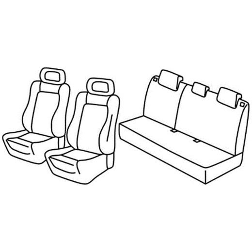 Sedežna prevleka za Nissan Almera 2