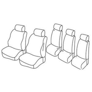 Sedežna prevleka za Nissan Almera Tino