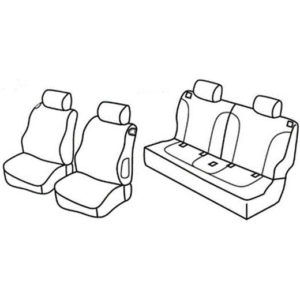 Sedežna prevleka za Opel Adam