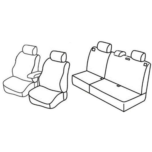 Sedežna prevleka za Opel Astra H Station Wagon
