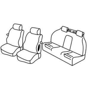 Sedežna prevleka za Opel Astra H Twin Top Cabrio