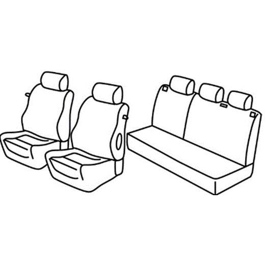 Sedežna prevleka za Opel Corsa C