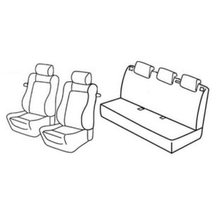 Sedežna prevleka za Opel Corsa D Sport Edition